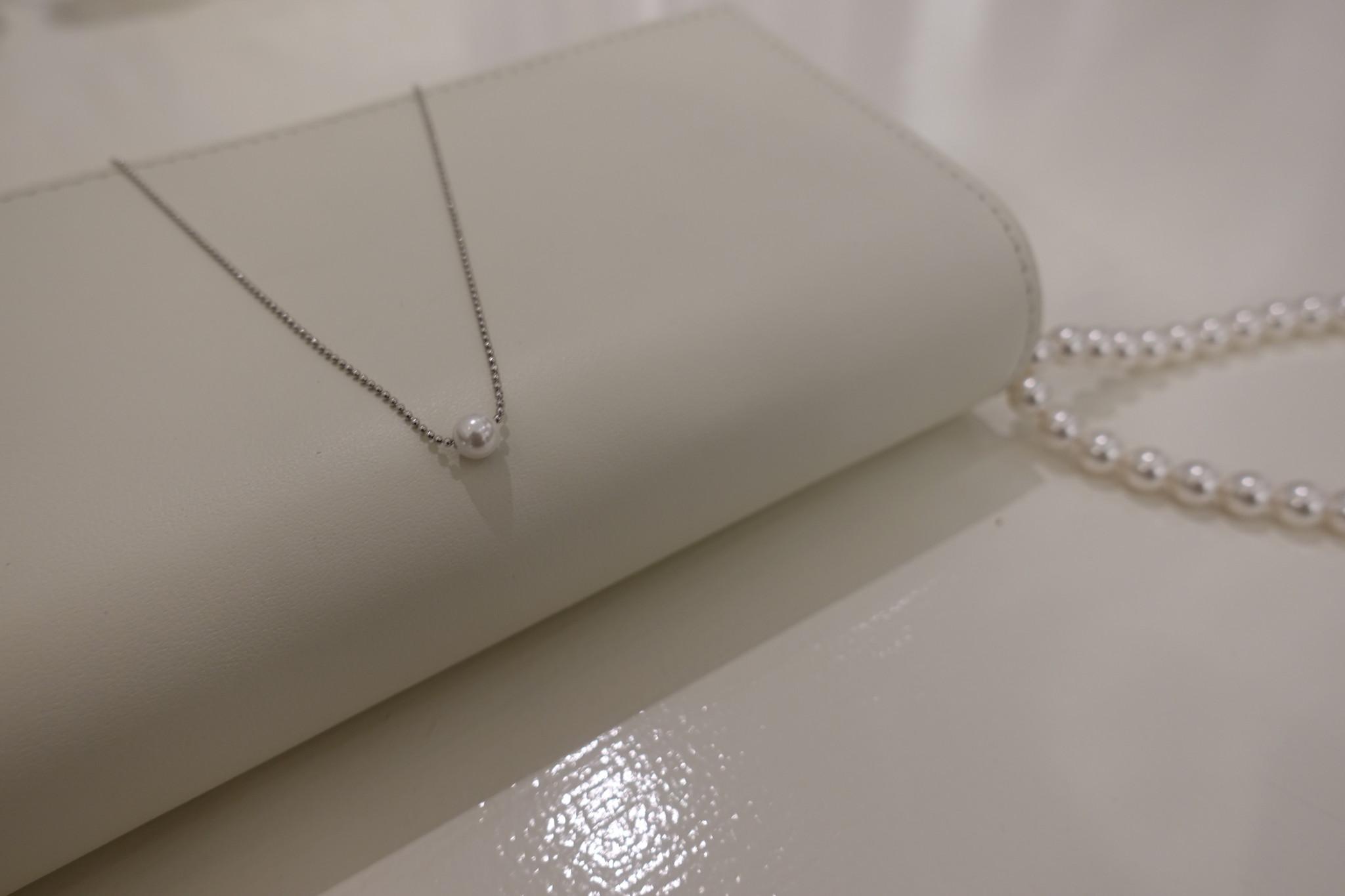 Zilveren ketting met parel-1
