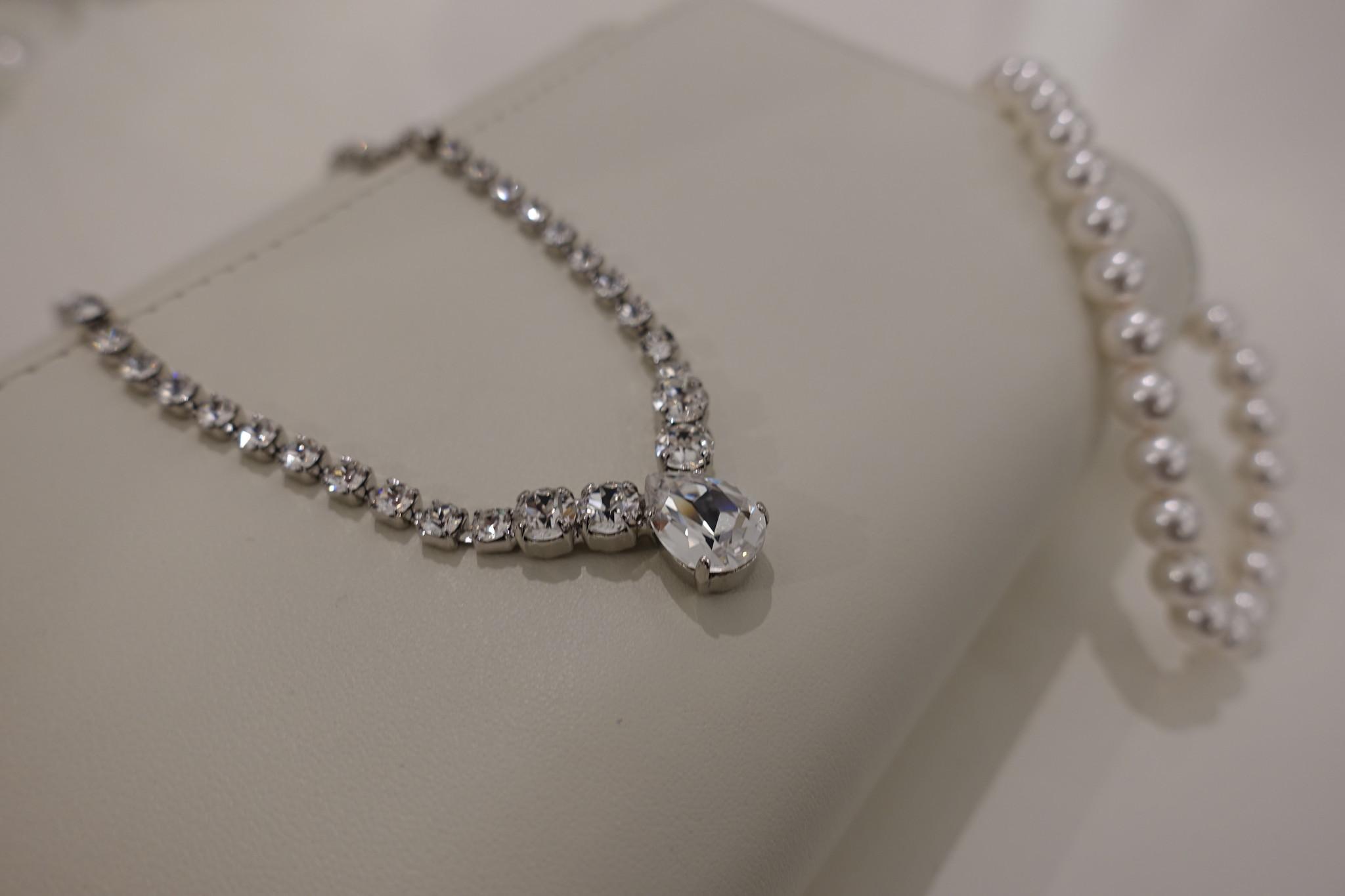 Diamanten ketting met druppel-1