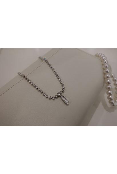 Diamanten ketting met hanger