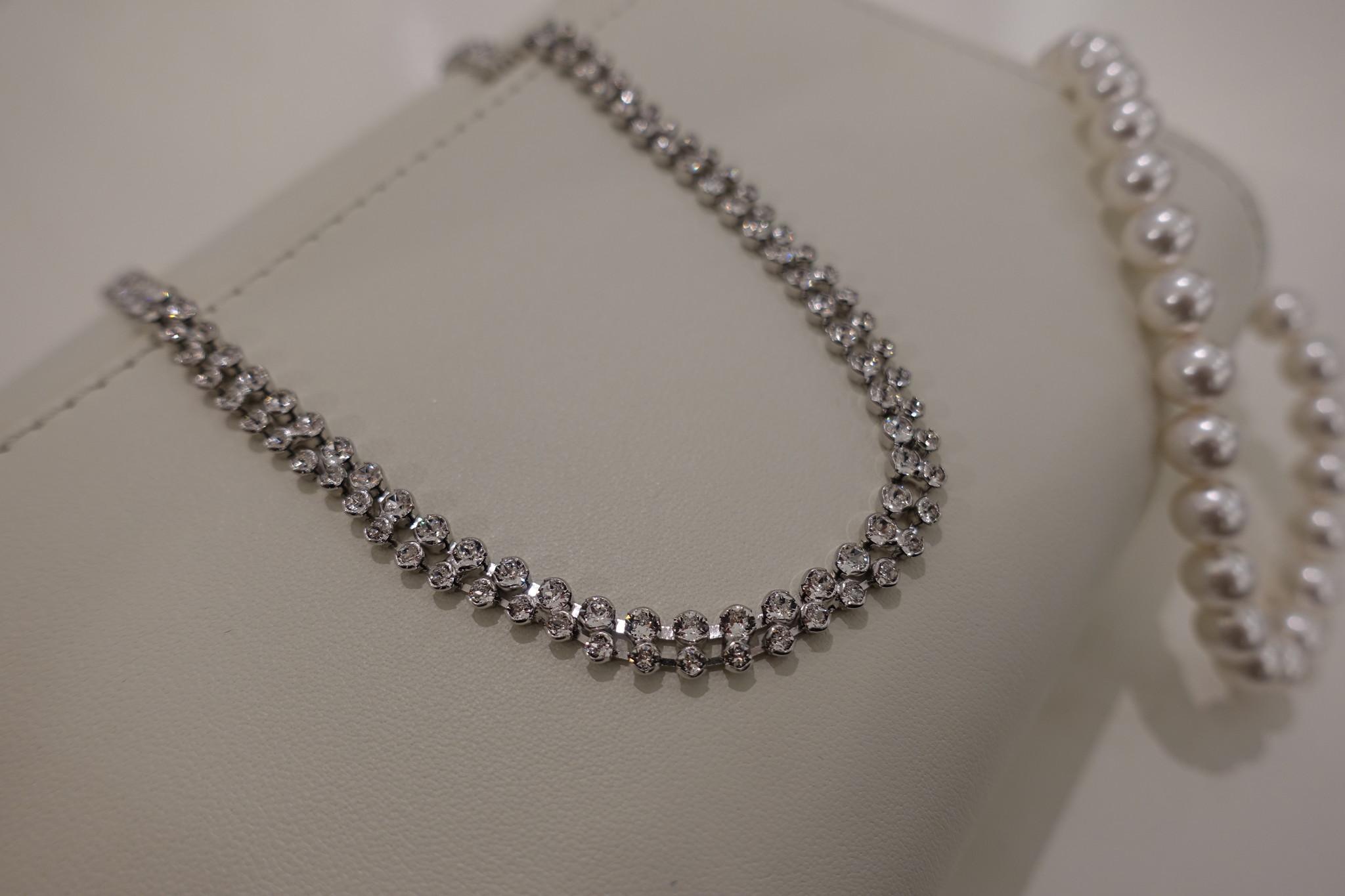 Dubbele diamanten ketting-1