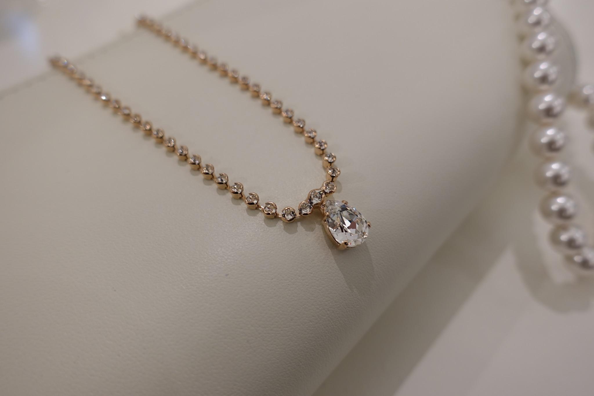 Rose diamanten ketting-1