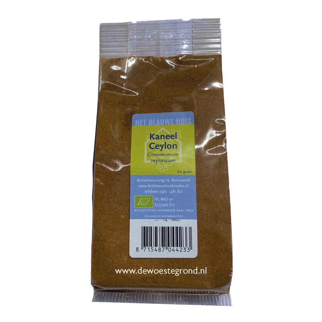 Kaneel Ceylon poeder groot 60 gr bio