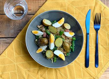Aardappel koolsalade