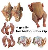 Biologische kippenbouillon pakket met gratis bottenbouillon kip (twv €5,85)