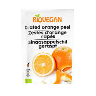 sinaasappelschil geraspt Biologisch