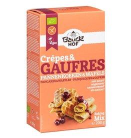 Bauckhof pannekoeken en wafel-mix gv Biologisch