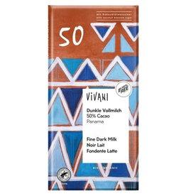 Vivani tablet melk donker 50% Biologisch