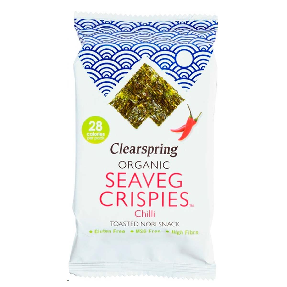 seaveg crispies chilli nori snack Biologisch