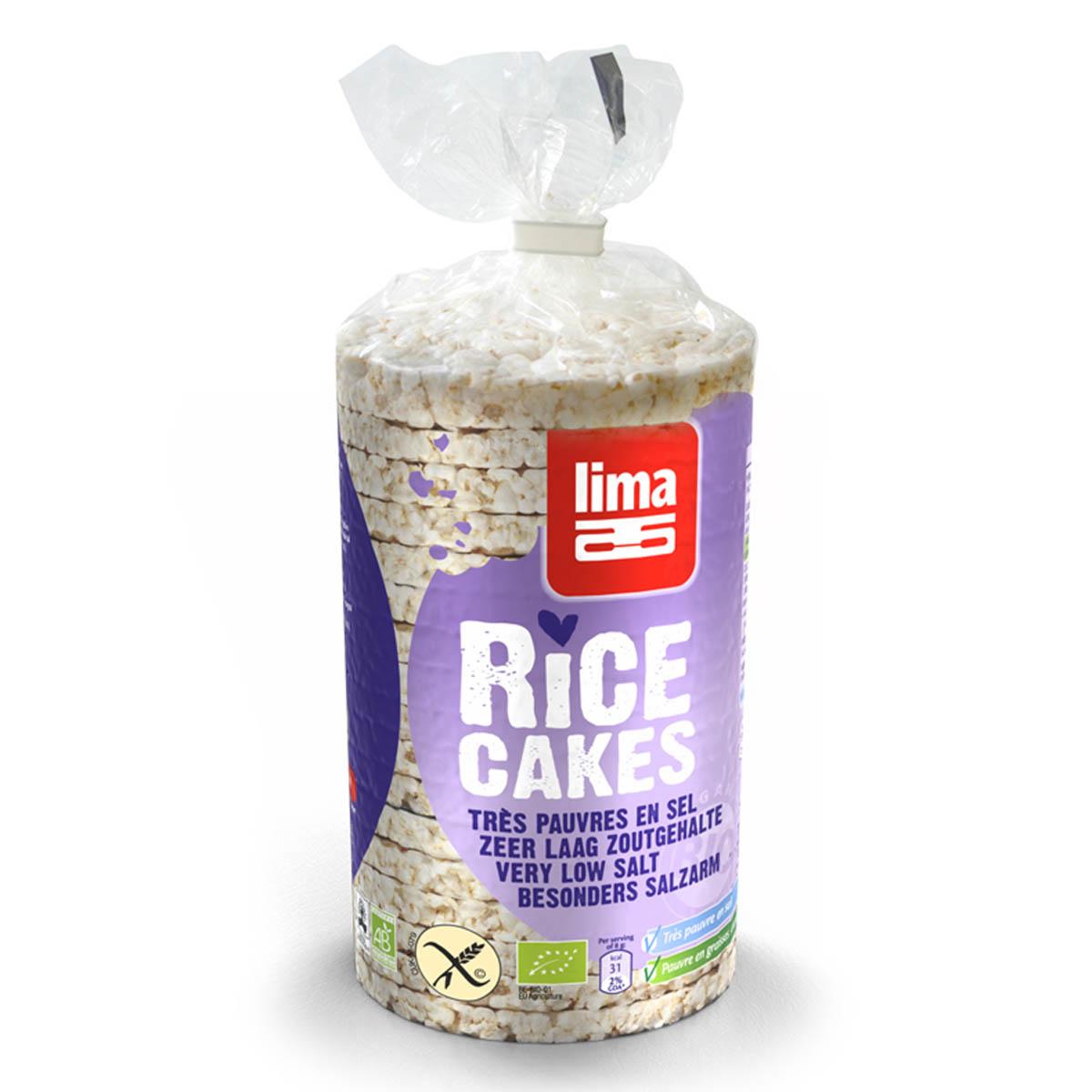 Lima rijstwafels zoutarm Biologisch