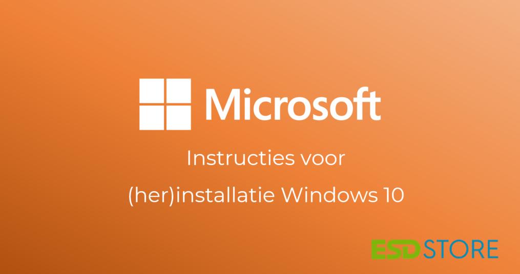 Windows 10 opnieuw installeren (schone installatie)