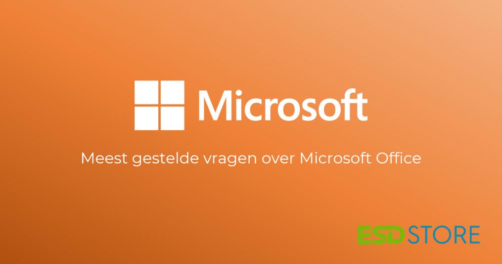 Meest gestelde vragen over Microsoft Office