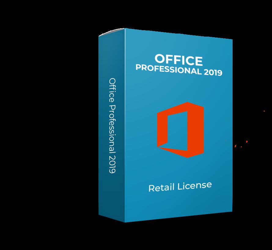 Microsoft Office 2019 Professional - Retail licentie - SKU: 269-17068