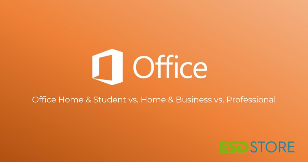 Verschillen tussen Office Home & Student, Home & Business & Professional