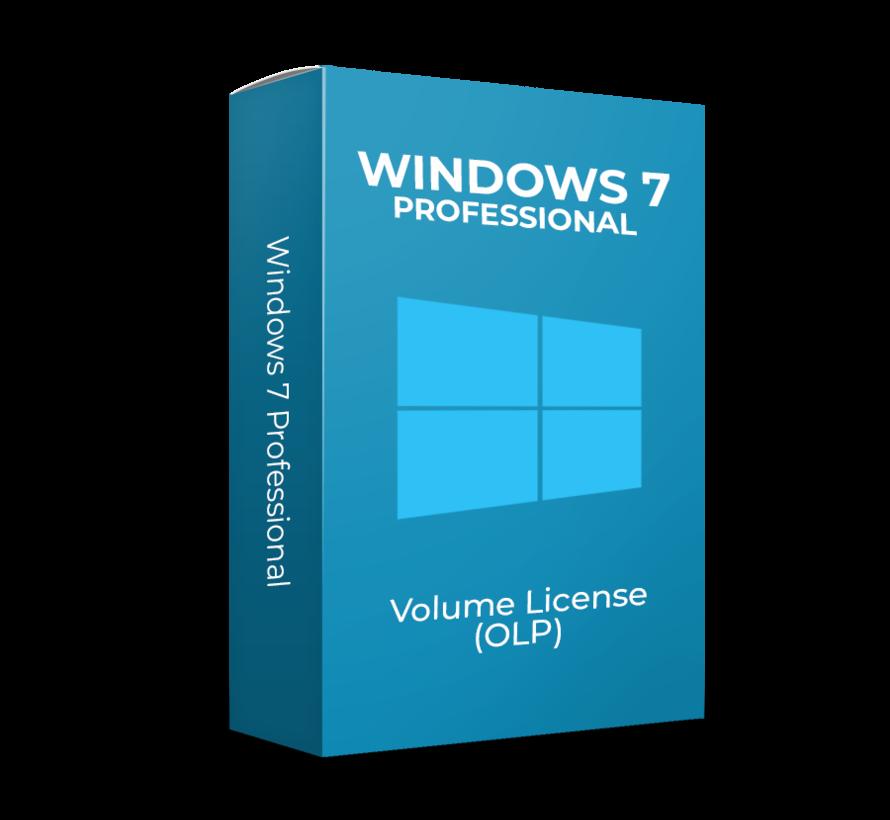 Windows 7 Professional - Volume Licentie  (Upgrade)