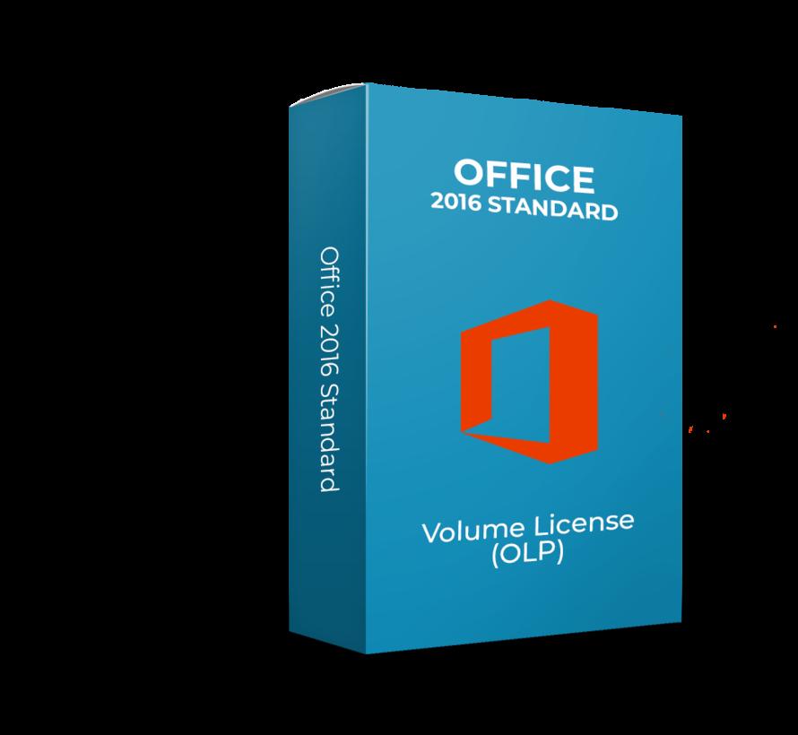 Microsoft Office 2016 Standard - Volume Licentie - SKU: 021-10554