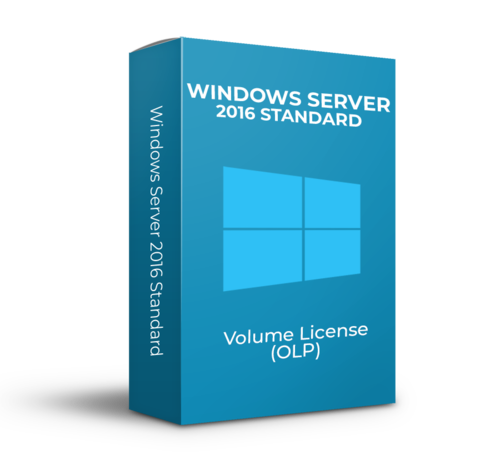 Microsoft Windows Server 2016 Standard - 16Core  - Volume Licentie - SKU: 9EM-00124