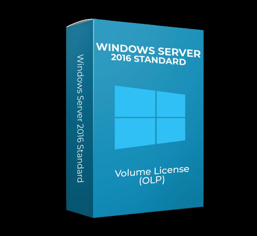 Windows Server 2016 Standard - 2Core - Volume Licentie - SKU: 9EM-00124