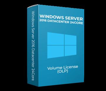 Microsoft Windows Server 2016 Datacenter - 24Core - Volume Licentie