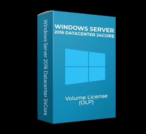 Microsoft Windows Server 2016 Datacenter - 24Core - Volume Licentie - SKU: 9EM-00124