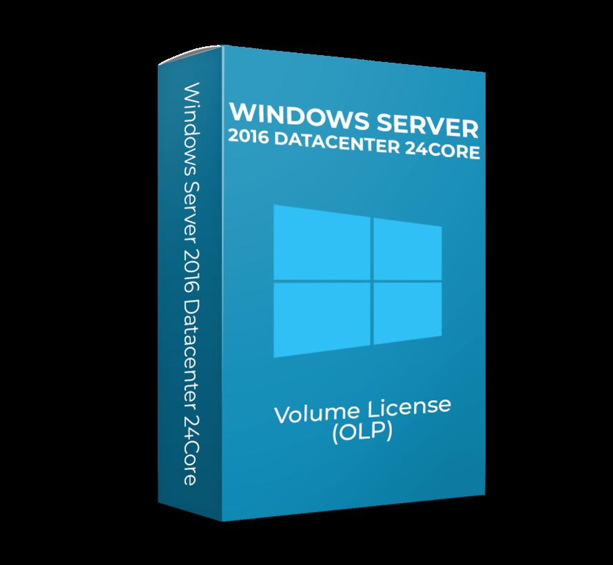 Windows Server 2016 Datacenter - 24Core - Volume Licentie - SKU: 9EM-00124