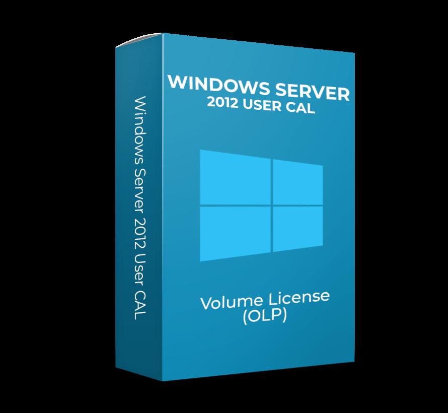 Windows Server 2012 User CAL - Volume Licentie - SKU:  R18-04281