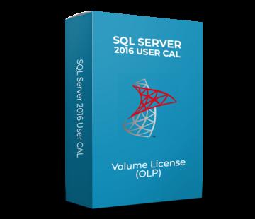 Microsoft SQL Server 2016 User CAL - Volume Licentie