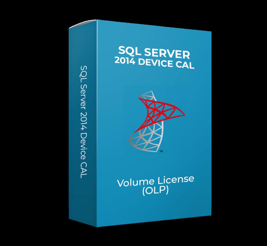 SQL Server 2014 Device CAL - Volume Licentie - SKU: 359-06096