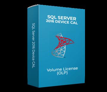 Microsoft SQL Server 2016 Device CAL - Volume Licentie