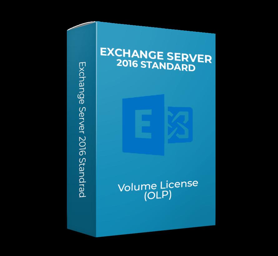 Exchange Server 2016 Standard - Volume Licentie - SKU: 312-04349