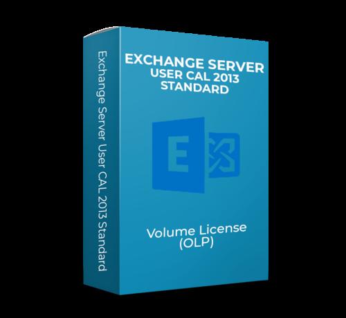 Microsoft Exchange Server User CAL 2013 Standard  - Volume Licentie  -  SKU: PGI-00622