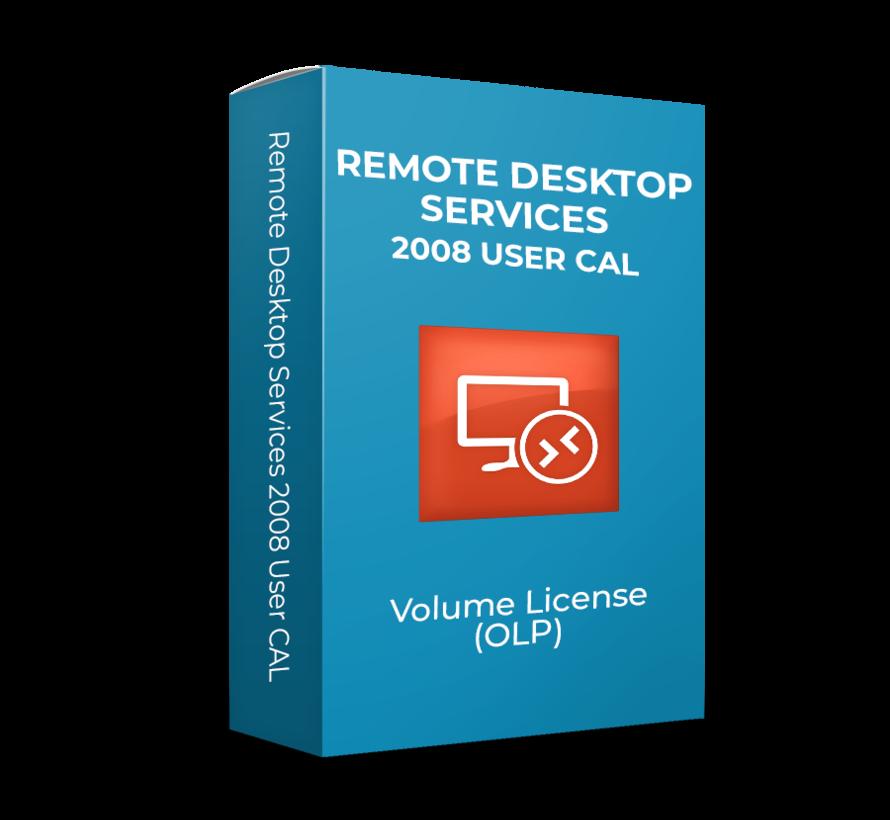 Microsoft  Remote Desktop Services 2008 R2 User CAL - Volume Licentie - SKU:R18-02709