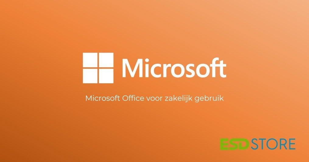 Microsoft Office voor zakelijk gebruik