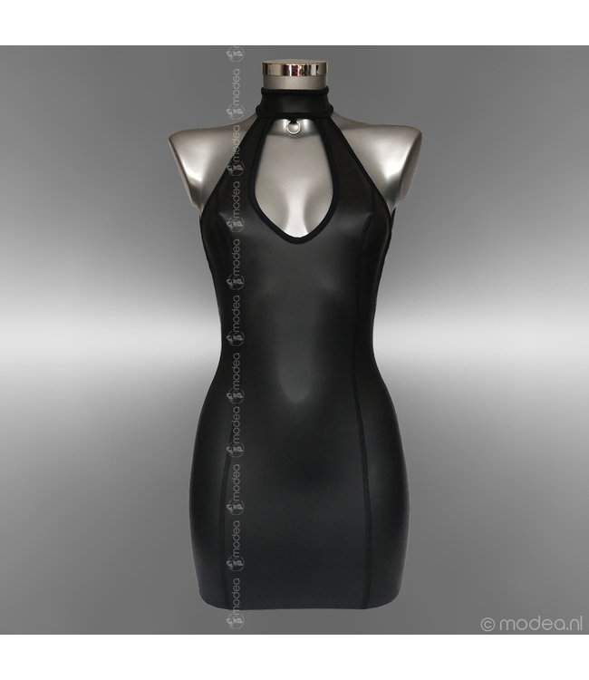 """Modea - Private Label Kinky dress neoprene (rubber) with collar and """"Low back"""""""