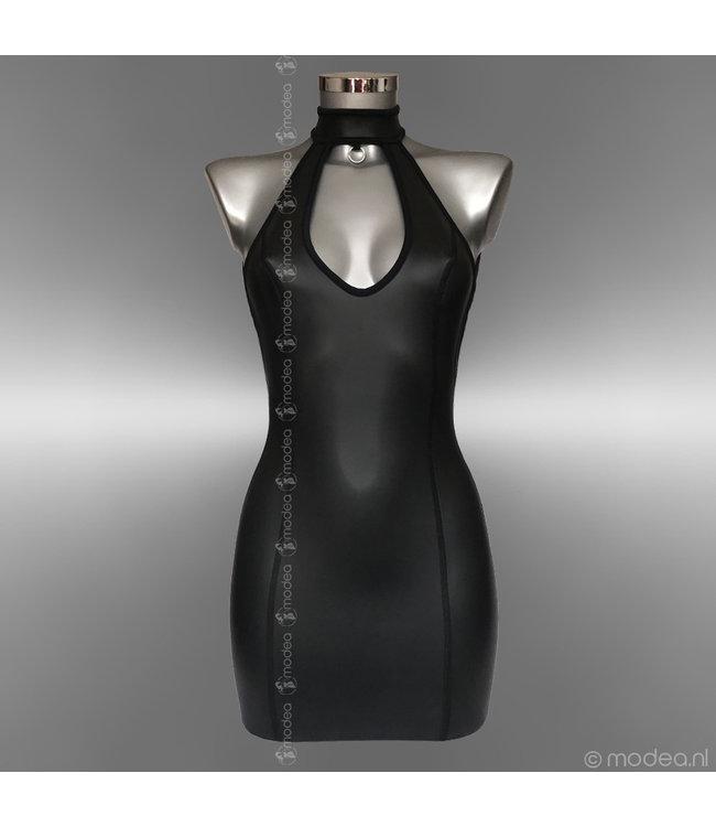"""Modea - Private Label Kinky jurk neopreen (rubber) met collar en """"Low back"""""""