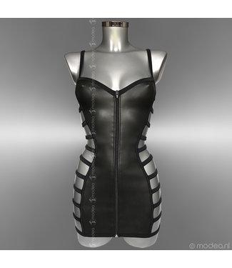 Modea - Private Label Kinky Rubber (Neopreen) jurkje  met side straps