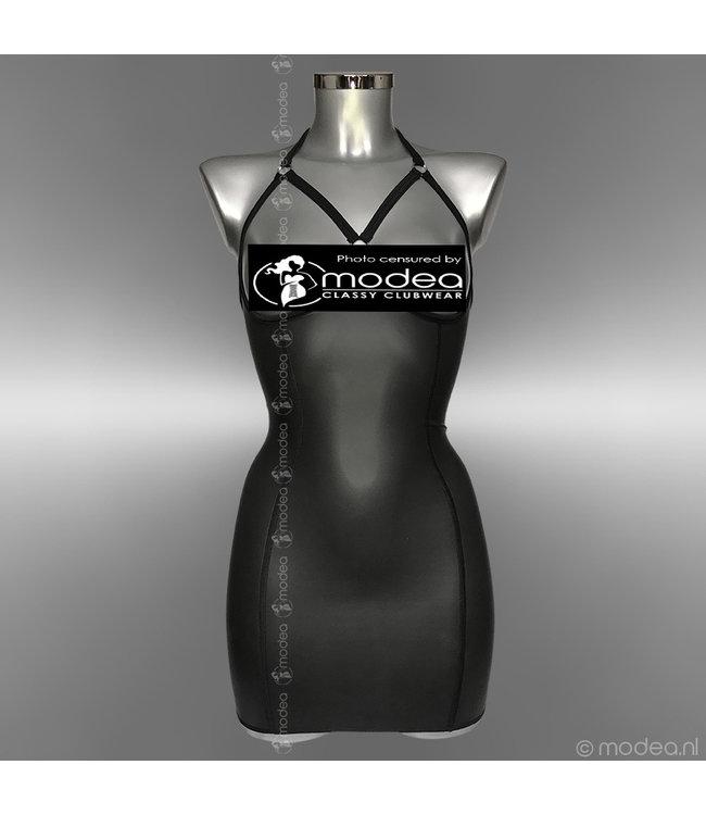 Modea - Private Label Kinky Rubber (Neopreen) jurkje topless