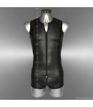 "Modea - Private Label Tough Neoprene (rubber) men's shirt with ""front-zipper"""
