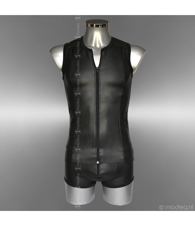 "Modea - Private Label Stoer Neopreen (rubber) heren shirt met ""front-zipper"""