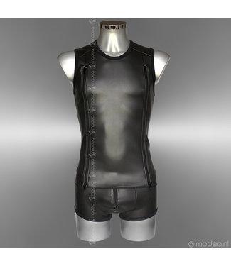 Modea - Private Label Tough Neoprene (rubber) men's shirt with double zipper