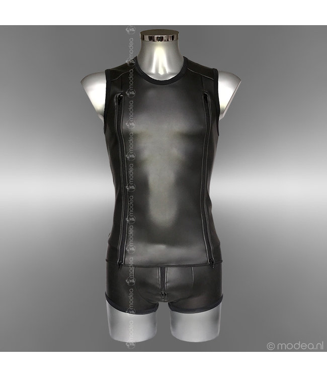 Modea - Private Label Stoer Neopreen (rubber) heren shirt met dubbele rits