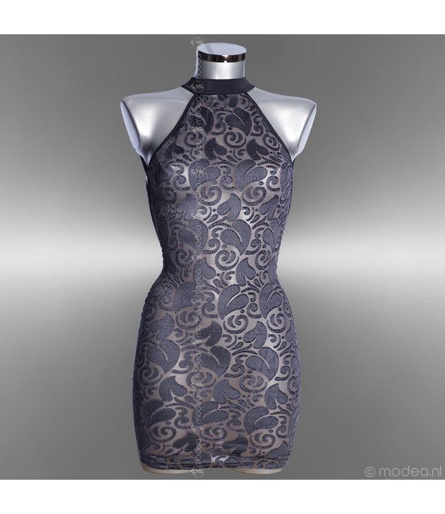 "Semi transparante silver-grey jurk ""Devore"""