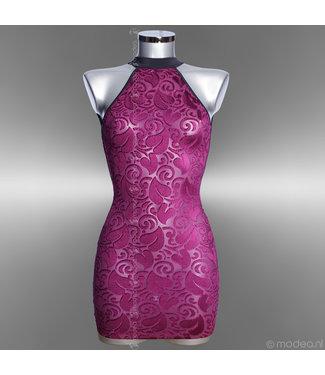 """Semi transparent purper dress """"Devore"""""""