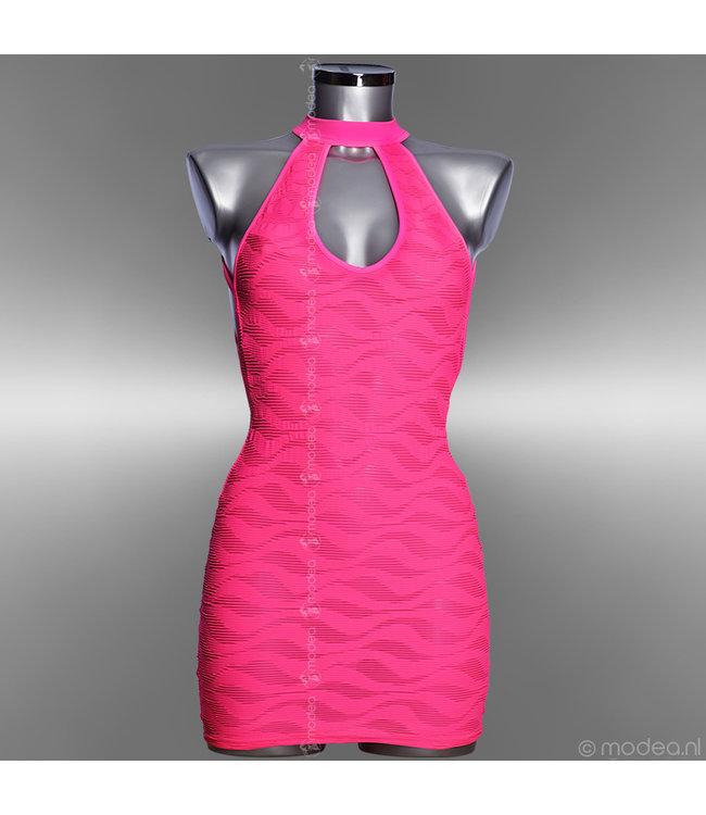 "Modea - moda sensuale Sexy fluor Pink jurkje ""Pinky on the Beach"""