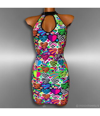 Trendy multi color jurk in Limited Edition