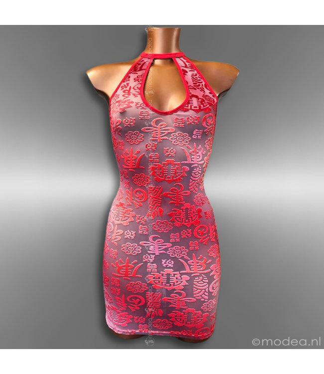 Modea - Private Label Unieke en sensuele rode  jurk in Limited Edition