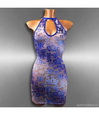 Modea - moda sensuale Unieke en sensuele blauwe jurk in Limited Edition