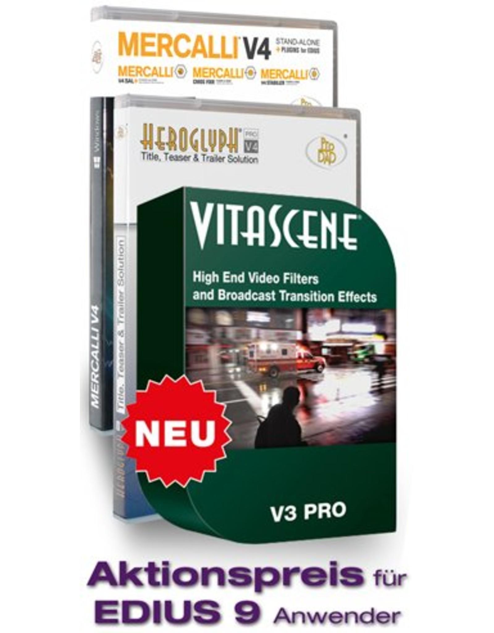 ProDAD ProDAD Vitascene V3 Pro + Mercalli V4 Suite + Heroglyph V4 Pro Promo Plug-ins for EDIUS 9