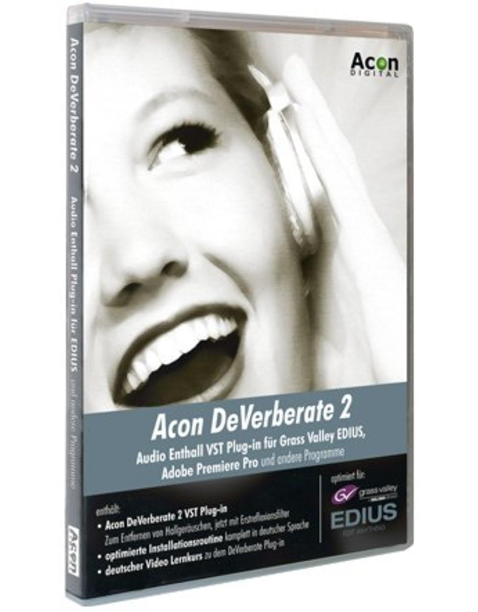 Acon VST Acon Digital Deverberate 2 VST Plug-in for EDIUS