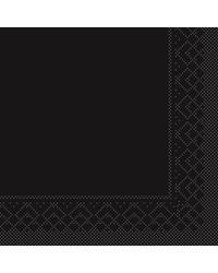 Servet Tissue 3 laags Zwart 40x40cm 1/4 vouw bestellen