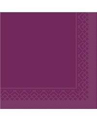 Servet Tissue 3 laags Aubergine 40x40cm 1/4 vouw bestellen